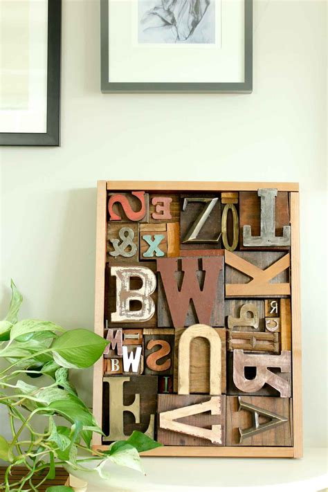 typography related diy projects