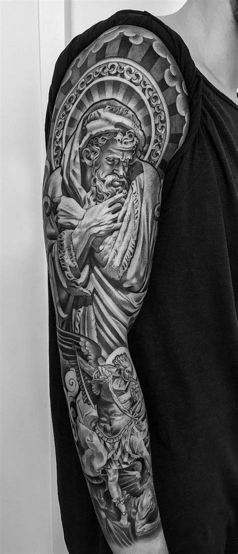 saint Michael tattoo | erik | Lil b tattoo, Tattoos, St michael tattoo