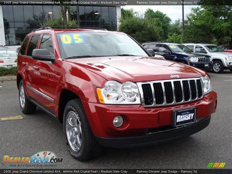 2005 grey jeep grand cherokee 2005 jeep grand cherokee limited 4x4 inferno red crystal