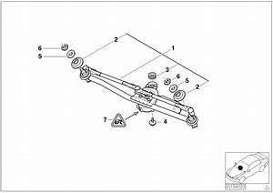 2004 Bmw 325ci Linkage  Wiper System With Motor  Lamp