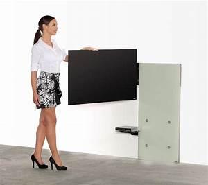 Design Wandhalterung Tv : elegante fernseher wandhalterung mit schwenkarm an robuster glasplatte geeignet f r ~ Sanjose-hotels-ca.com Haus und Dekorationen