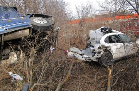 Car-semi Truck Crash Seriously Injures Driver; Partially