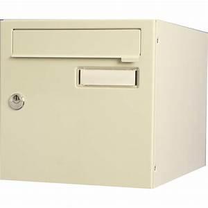 boite aux lettres normalisee la poste 1 porte renz With porte de garage sectionnelle avec serrure de boite aux lettres