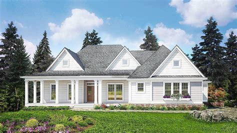 Split Bedroom Plan by Split Bedroom Country House Plan 25608ge Architectural