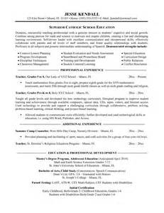 resume sle format word document science teacher resume