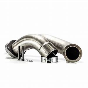 6 4l Ford Power Stroke 4 U0026quot  409 Stainless 2 Piece Down Pipe