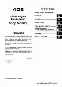 Mitsubishi Fuso Canter Truck Workshop Repair Manual Pdf