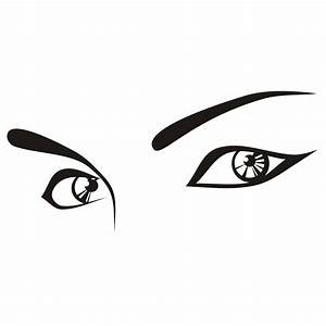 Vector for free use: Vector female eyes
