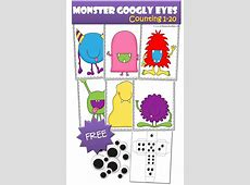 FREE Monster Googly Eyes Counting Pack Free Homeschool