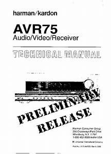 Harman Kardon Avr 75 Service Manual  U2014 View Online Or
