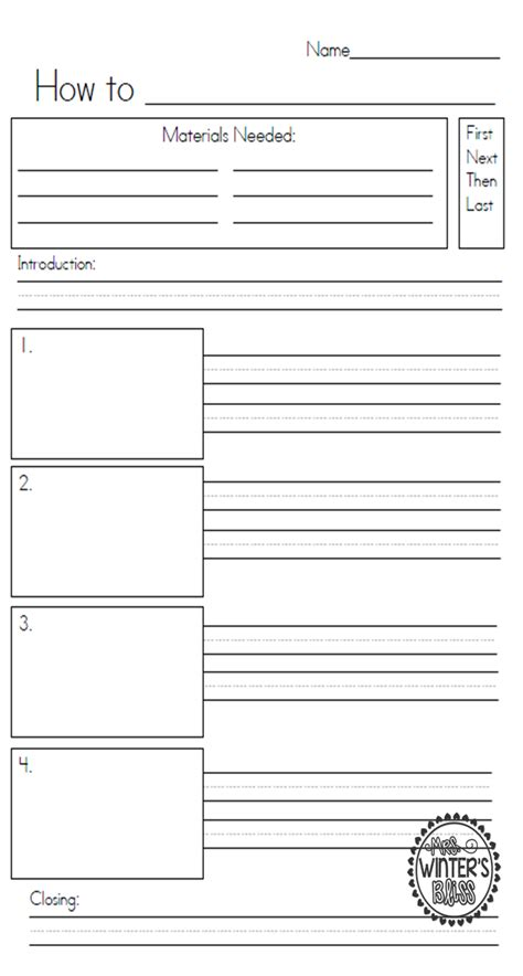 procedural writing template mrs winter s bliss apples apples apples