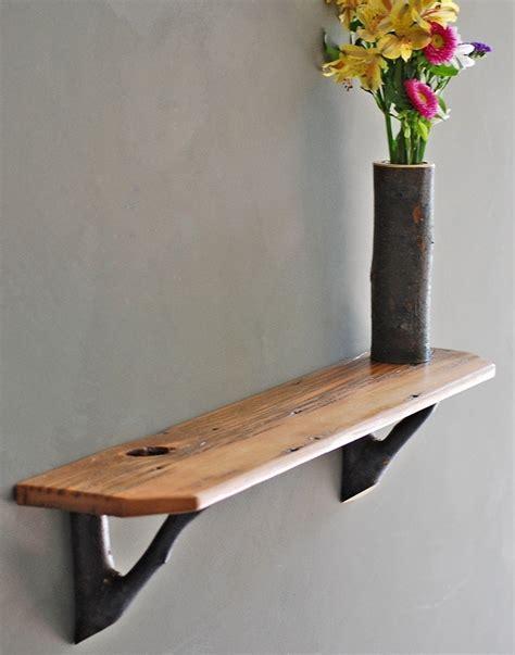 rustic wood shelf rustic barn wood shelf