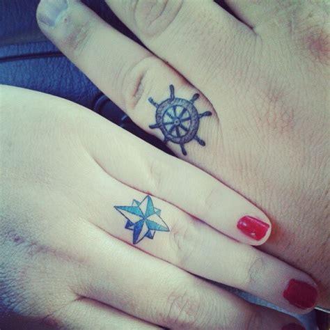 nautical wedding ring tattoos compass and ships wheel unique wedding ideas inked weddings blog