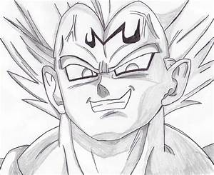 Majin Vegeta drawing by RazorShadowZ on DeviantArt