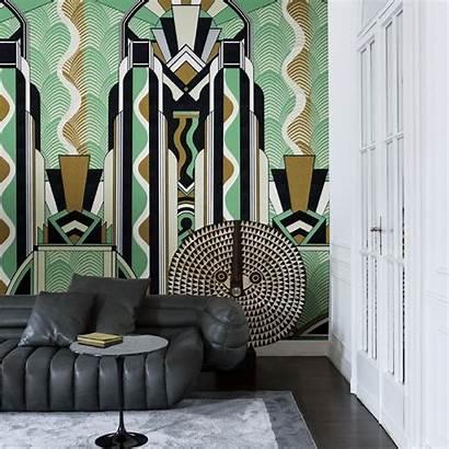 Deco London Jungle Tattahome Teal Interior Wallpapers