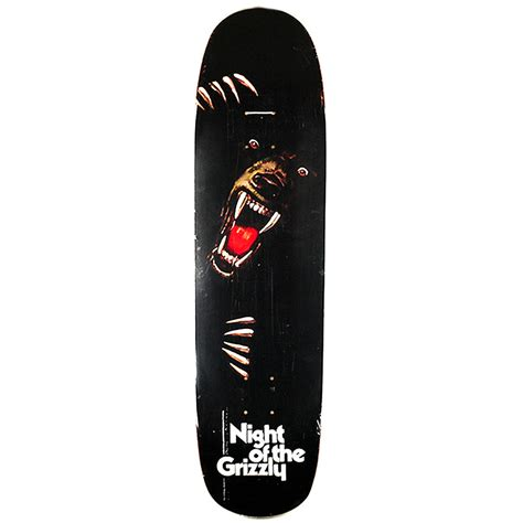 grizzly skate decks grizzly of the grizzly deck black 8 375 forty two