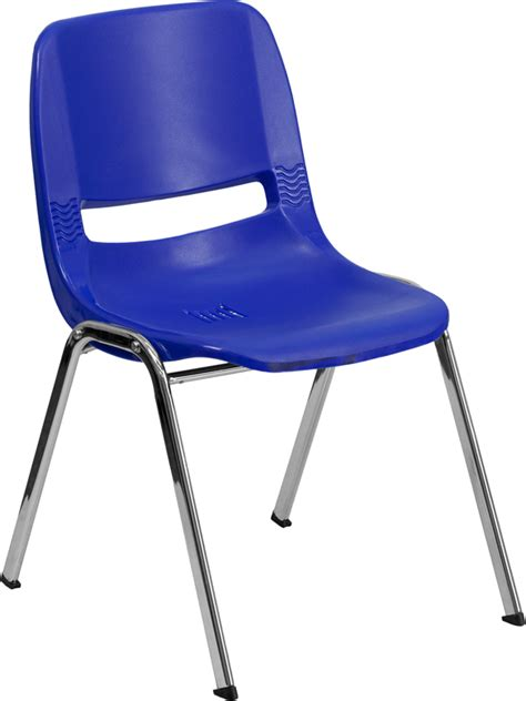 Hercules Plastic Stacking Chairs by Hercules Commercial Grade Navy Blue Ergonomic Shell