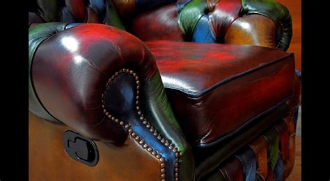 Poltrone Chesterfield Abruzzo : Poltrona Chesterfield Reclinabile Monk Vintage Patchwork