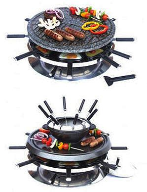 hostess trolley world andrew 8 person luxury rustic fondue and raclette grill