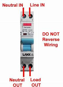 Lanx Single Pole Safety Switch 10a 30ma 4 5ka Rcd Mcb