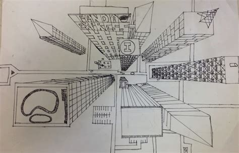 Birds Eye View Perspective Drawing