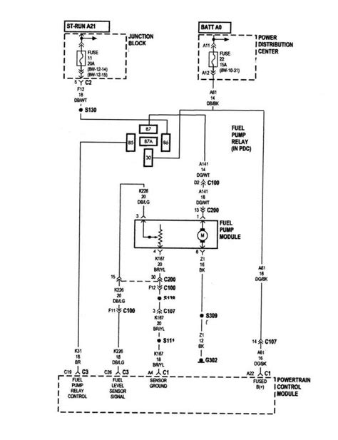 1994 jeep grand cherokee fuel pump wiring diagram wiring