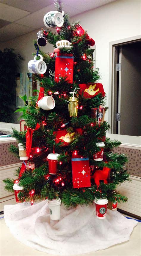 i love my starbucks tree all my starbucks ornaments over
