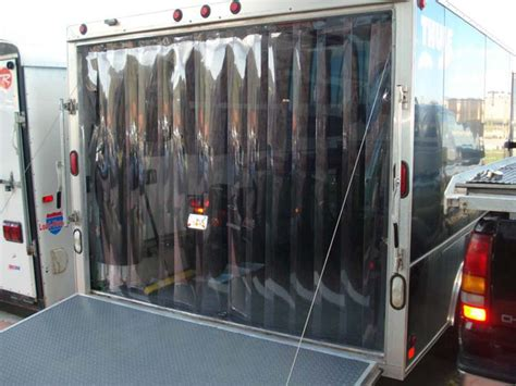 clear plastic roll up garage doors truck and trailer doors curtains
