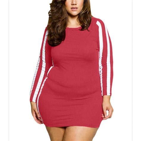 Woman Plus Size Night Club Bodycon Mini Dress Elegant