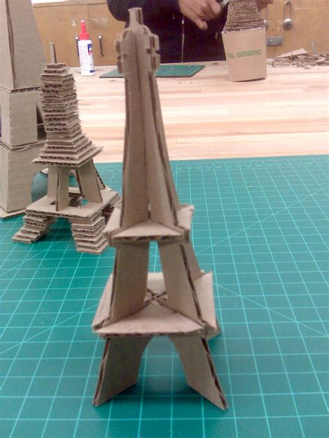 art students blog cardboard landmarks