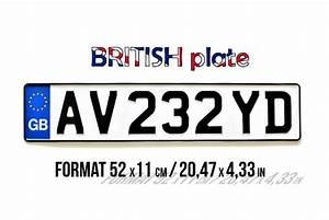 Plaque Immatriculation Anglaise : plaque d 39 immatriculation anglaise blanche aluminium embouti ~ Gottalentnigeria.com Avis de Voitures