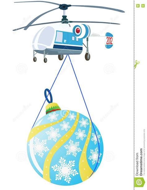 helicopter  christmas decorations stock photography