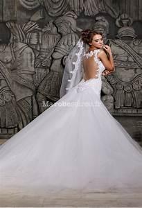 Robe De Mariee Sirene : robe de mari e tulle sir ne bustier avec traine ~ Melissatoandfro.com Idées de Décoration