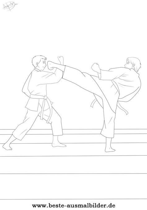 karate ausmalbild ausmalbilder von karate und sportarten kostenlos