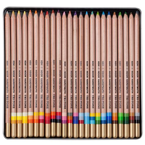 colored pencils set so cool koh i noor tri tone colored pencil sets