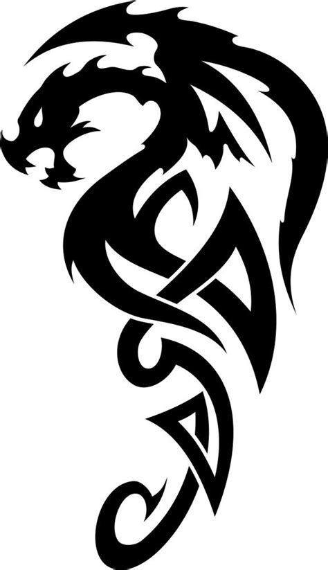 Celtic Dragon Tattoo Vector Free Vector cdr Download