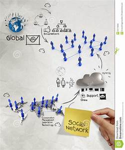 Hand Holding Diagram Of Social Network Structure With