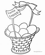 Easter Coloring Pages Basket Printable Baskets Colouring Eggs Printables Bunny Template Sheets Happy Egg Templates Printing Quotes Colors Fancy Fun sketch template