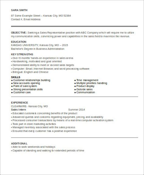 sle entry level sales resume 7 exles in word pdf