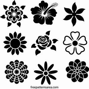 Flower Stencil Designs FreePatternsArea