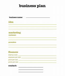 sample sba business plan template 9 free documents in With very simple business plan template
