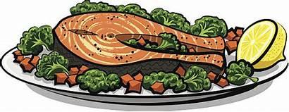 Salmon Baked Clip Vector Fillet Illustrations Similar