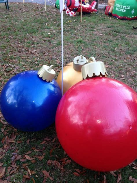 christmas yard inflatable ball ornaments
