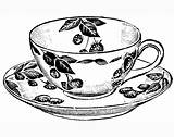 Tea Cup Coloring Teacup Pages Drawing Printable Cups Sketch Print Coffee Line Adult Craft Drawings Howtodrawit Teacups Create Draw Amp sketch template