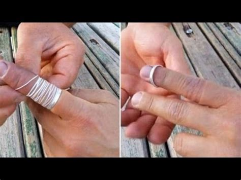 how to remove a wedding ring from a swollen finger amazing trick to remove a ring that is stuck your finger youtube