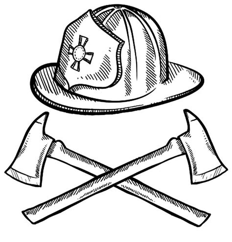 14074 firefighter helmet clipart black and white maltese cross coloring pages