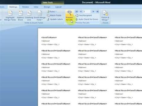 create printable labels with microsoft word 2007 youtube