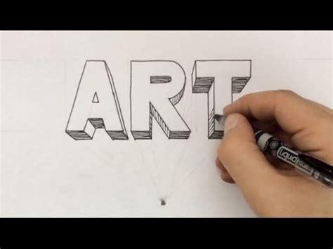 3d block letters draw 3d block letters 20095 | hqdefault