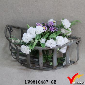 Outdoor Wall Planters Wrought Iron by Antique Garden Wrought Iron Wall Planters Buy Wrought