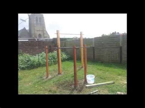 fabriquer des barres de traction dans jardin le